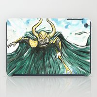 loki iPad Cases featuring Loki by Crooked Octopus