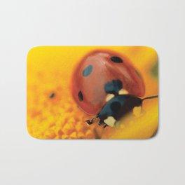 Ladybird, macro photography, still life, fine art, nature photo, romantic wall print Bath Mat