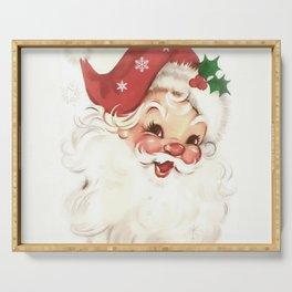 Red retro vintage Santa Serving Tray