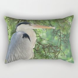 Grey heron (Ardea Cinerea) amongst trees Rectangular Pillow