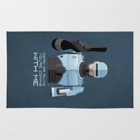 robocop Area & Throw Rugs featuring Dead or alive, you're coming with me (RoboCop) by DWatson