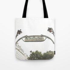 Metropolitain Sign Tote Bag