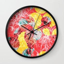 Colorful abstract artwork Wall Clock