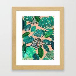 Summer Tropical Leaves Framed Art Print