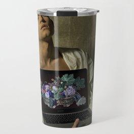 Caravaggio - Fanciullo con canestro di frutta Travel Mug