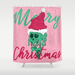 Melted Christmas Shower Curtain