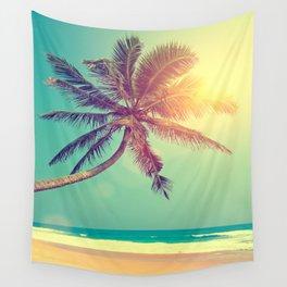 Palm Tree in Sri Lanka Wall Tapestry