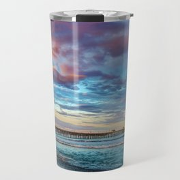 Rainbow at the End of the Pier Travel Mug