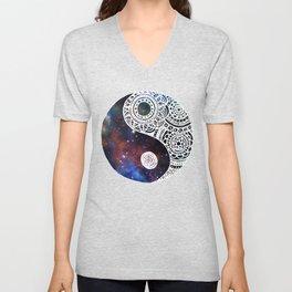 Galaxy Yin Yang Unisex V-Neck