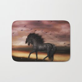 Black Stallion Bath Mat
