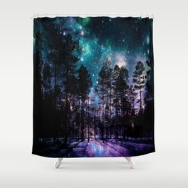 One Magical Night... teal & purple Shower Curtain