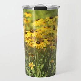 Black Eyed Susans Triptych Travel Mug