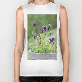 Lavender flower in tin pot Biker Tank