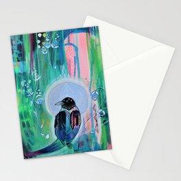 Magpie Moonbeam Stationery Cards
