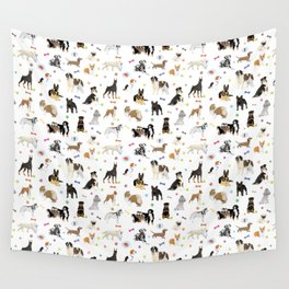 Various Dogs Pattern Wall Tapestry