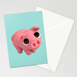 Rosa the Pig is shy Stationery Cards