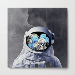 Romantic Astronaut Metal Print