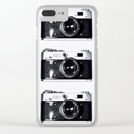 LIGHTS CAMERA CAMERA CAMERA ACTION Clear iPhone Case