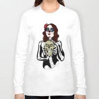 dia de los muertos Long Sleeve T-shirts featuring Dia de los muertos by Paloma  Galzi