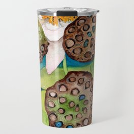 Lotus flower lily pads Travel Mug