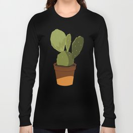 Orange Pot Cactus Long Sleeve T-shirt