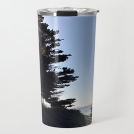 Sun, sky and rail. Travel Mug
