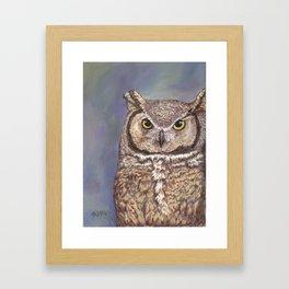 great horned owl, karla hall Framed Art Print