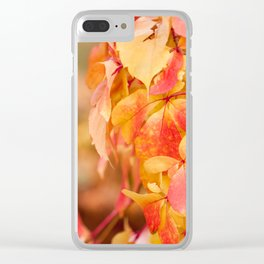 vine red yellow leaves abstract Clear iPhone Case