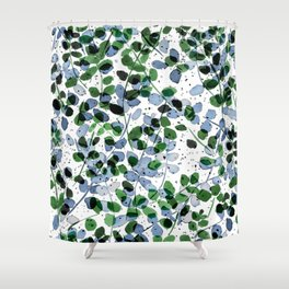 Synergy Blue and Green Shower Curtain