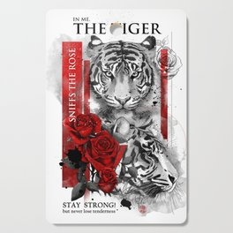 In me the tiger sniffs the rose Cutting Board