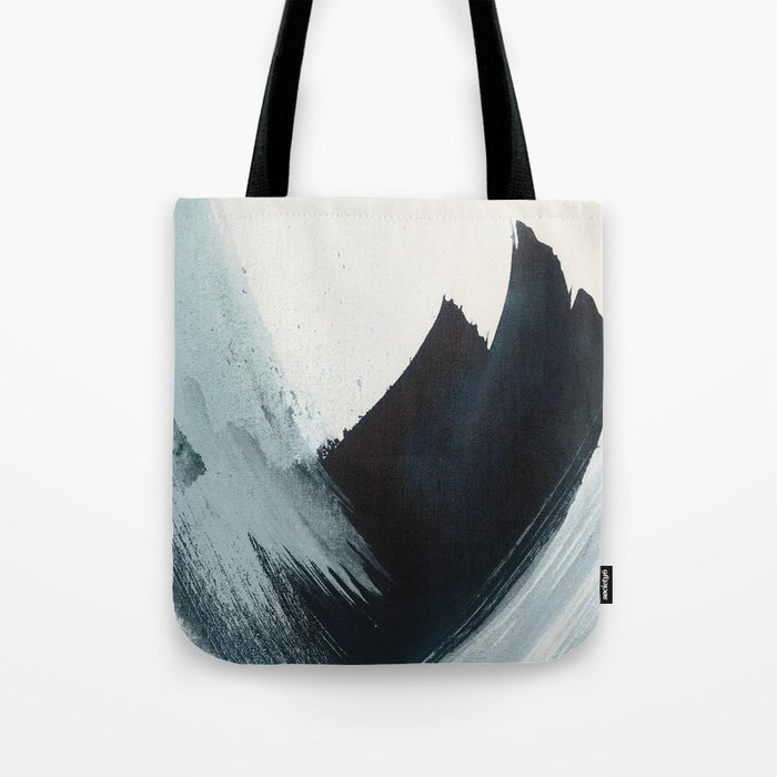Like A Gentle Hurricane: a minimal, abstract piece in blues and white by Alyssa Hamilton Art Tote Bag