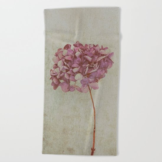 Vintage Hydrangea Beach Towel