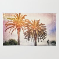 san diego Area & Throw Rugs featuring San Diego Palms by Patrick Quimby