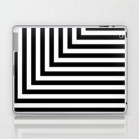 Black and White L Stripes // www.pencilmeinstationery.com Laptop & iPad Skin