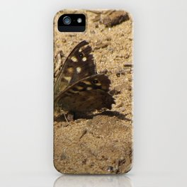 Brown Butterfly iPhone Case