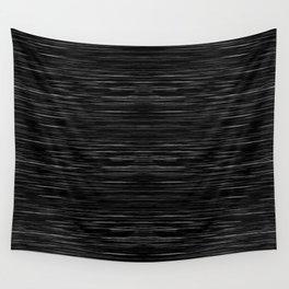 Meteor Stripes - Deep Black Wall Tapestry
