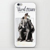 birdman iPhone & iPod Skins featuring Birdman by Melanie Ida Chopko