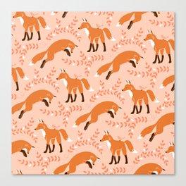 Socks the Fox - Dawn Canvas Print