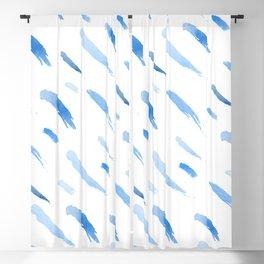 Blue Paint Brush Blackout Curtain