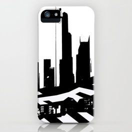 City Scape in Black and White iPhone Case