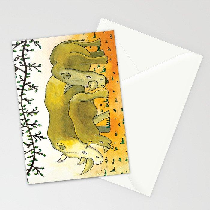 Noah's Ark - Rhino Stationery Cards