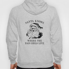 Santa Knows Where The Bad Girls Live Hoody
