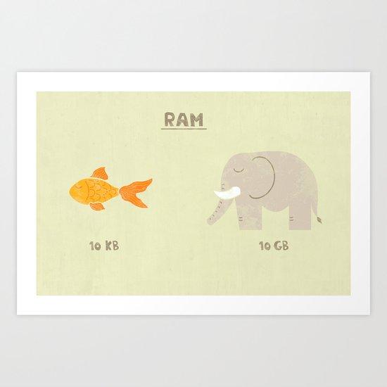Raminals Art Print