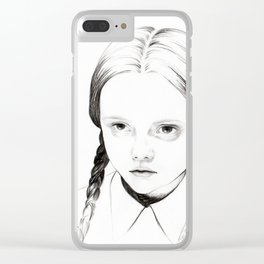 Wednesday Addams / Christina Ricci Clear iPhone Case