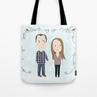 wedding Tote Bags featuring wedding by mondebettina