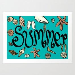 Summer shells Art Print