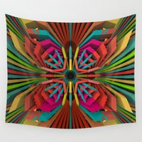 cyberpunk Wall Tapestries featuring Tropica by Obvious Warrior