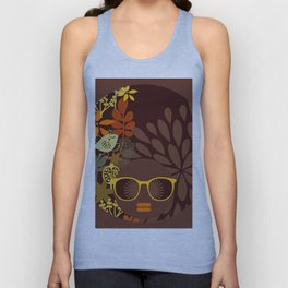 Afro Diva : Sophisticated Lady Retro Brown Unisex Tank Top