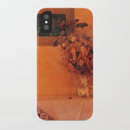 Still life with dry flowers iPhone Case
