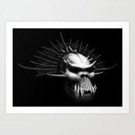 Troll Skull Art Print